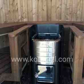 Barrel Sauna vertical